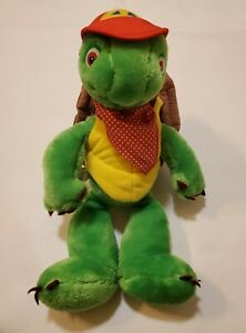 "Franklin Turtle 1986 Kids Can Plush Stuffed Animal Character Toy 15"" Vtg"
