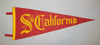 Old Antique Vtg 1940s So California University Full Size Felt Pennant Very Nice