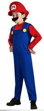 KIDS SUPER MARIO BROTHERS PLUMBER COSTUME + HAT & MOUSTACHE Size 3-10 years