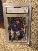 Nico Hoerner Rookie 2020 Topps Graded 10 Chicago Cubs