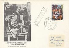 (49788) CLEARANCE Ireland FDC Contemporary Art - 19 August 1974 fair-good cond