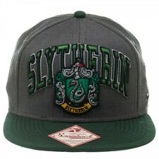 HARRY POTTER SLYTHERIN SHIELD CREST GREY GREEN SNAPBACK HAT CAP LOGO ADJUSTABLE