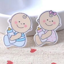 10pcs Baby Girl Wooden Die Cuts - embellishments for cardmaking,crafts,sewing
