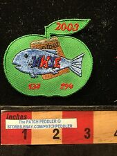 Jacket Patch FISH APPLE WWJE What Would Jesus Eat (take Off Of WWJD Do  )C63G