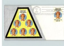 """SPECIAL OLYMPIC Games, 1979 Hand Made cachet on First Day of Issue """"Skill, Shari"""