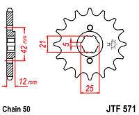 YAMAHA XJ600 1991 1992 JTF571 17 JT FRONT SPROCKET NEW