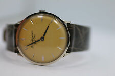 Vintage Mens Jules Jurgensen 18k Buser Precision Great Patina Mechanical Watch