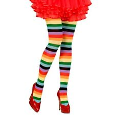 7a28f82f7 Rainbow Striped Gay Pride Multi-coloured Circus Clown Witch Fancy Dress  Tights