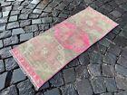 Bohemian rug, Vintage small rug, Handmade wool rug, Doormats   1,3 x 3,1 ft