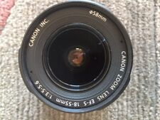 Canon Zoom Lens EF-S  18-55mm  3.5-5.6