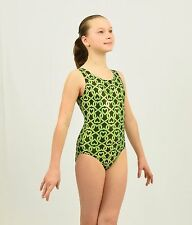 Friends Lock Hearts Gymnastics Leotard Intermediate Child(7-8Years) green/black