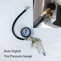 Car Auto Bike Digital Tire Pressure Gauge Meter Tire Air Inflator Tool 220 PSI