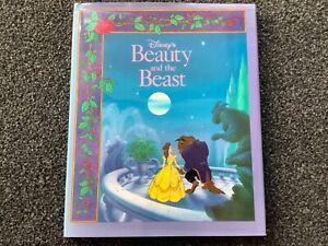 Beauty and the Beast Walt Disney Vintage 1991 hardcover Dust Jacket GORGEOUS