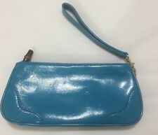 Talbots Turquoise Patent Leather Clutch Wallet NWOT