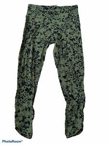 """lululemon green floral efflorecent barracks crop 24"""" align nulu leggings 10"""