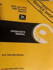 John Deere 215 G and 225G pressure washer operators manual Item 44