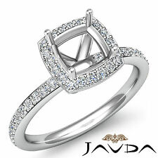 Diamond Engagement Square Cushion Shape Proposed Ring Platinum 950 Semi Mount 1C