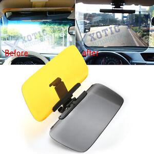 HD Tac Visor Day/Night Anti Glare Visor Clip On Vision Car Vehicle Glasses Shade