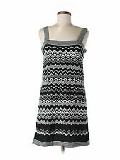 New Women Missoni For Target  White Black Chevron Sweater Tank Dress Size M