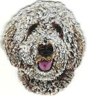 """2"""" Tall White Golden Doodle Portrait Dog Breed Patch"""