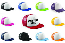 Adults Personalised Custom Printed Half Mesh Baseball Trucker Rapper Cap Hat