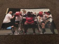 Ray Williams Hand Signed 12 x 8 Photo Olympic Weightlifter Coa 1