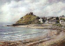Criccieth Cardigan Bay Gwynedd Wales, Castle & Beach United Kingdom Art Postcard