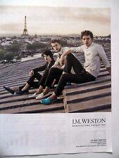 PUBLICITE-ADVERTISING :  J.M. WESTON Le Moc  2015 Chaussures,Mocassin