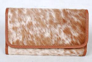 100% Real Cowhide Wallet Real Leather Hair ON Western Ladies Wallets  SA-2995