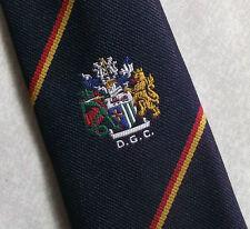 DGC VINTAGE RETRO TIE NAVY COLLEGE CLUB ASSOCIATION CREST MOTIF 1980s GOLF CLUB