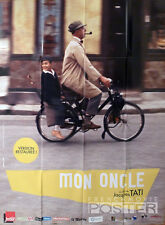 MON ONCLE - JACQUES TATI / MOTORCYCLE - 2013 REISSUE LARGE MOVIE POSTER