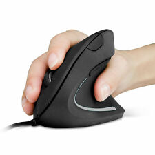 Anker Wired Vertical Ergonomic Shark Fin Style 1600DPI Optical Mouse for MAC PC