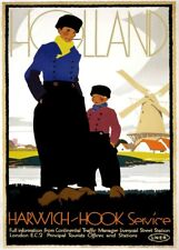 Holland with LNER. 1920-30's, Reproduction Vintage Art Deco Travel Poster
