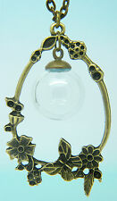 Antique Glass Vial Kit pendant jewellery bronze rice antique charm set uk diy