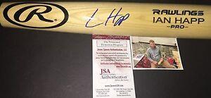 Ian Happ Chicago Cubs Autographed Signed Engraved Bat JSA WITNESS COA Blonde