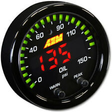 Genuine AEM serie x presión de aceite 0-150PSI/0-10Bar Negro Kit de calibre # 30-0307