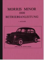 Morris Minor 1000 Bedienungsanleitung Betriebsanleitung Handbuch Owners Manual