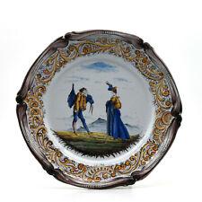 Keller et Guérin St Clément ? plat faïence 19ème french ceramic