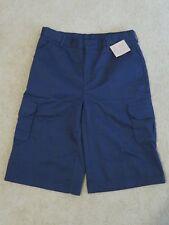 Neu Jungen Lands End Marineblau Khaki Cargo Uniform Shorts Verstellbar Grösse 16