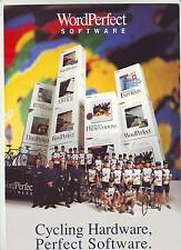 CYCLISME carte EQUIPE CYCLISTE WORDPERFECT 1993  format 29,5 x 21 cm