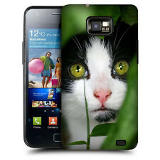 CUSTODIA COVER per SAMSUNG GT i9100 GALAXY S2 TPU BACK CASE GATTO OCCHI VERDI