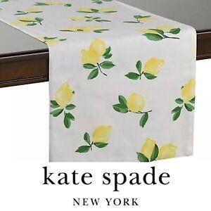 """🍋Kate Spade New York Table Runner🍋 Make Lemonade 🍋15"""" x 90"""" 💯Authentic"""