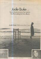 "(MMBK1) ADVERT (A3 16X12"") JUDIE TZUKE : WELCOME TO THE CRUISE ALBUM"