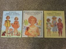 Vintage Shirley Temple Paper Doll Books Lot Of 3 Different Mint & Uncut