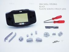 Pure Black Nintendo Game Boy Advance GBA Casing Housing Case Shell Screwdriver