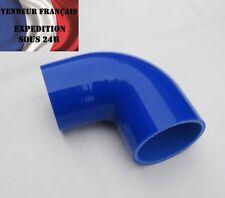 Durite Silicone coudé 90°, SC SPORT, 38 mm int. lg.90 mm, Bleu, VENDEUR FRANCAIS