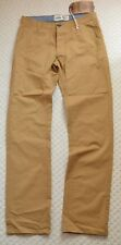 New Tokyo Laundry Premium Chino Trousers Khakis Tan Brown Straight Fit Pants W30