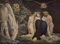 "Blake Night Of Joy Gnostic Illuminati Painting 12.5"" x 17"" Real Canvas Art Print"