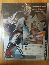 2000 - 2001 INAUGURAL GAME FULL TICKET STUB & POSTER - COLUMBUS BLUE JACKETS