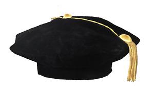 Graduation Doctoral Tam with Gold Bullion Tassel  - 8 Sided